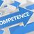 kompetencia · szöveg · társasági · ikonok · táblagép · kék - stock fotó © mazirama