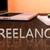 freelance · tekst · notebook · bureau · 3d · render - stockfoto © mazirama