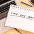 handschriftlich · wie · Geschäftsmann · schreiben · Präsentation · Glas - stock foto © mazirama