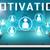 mundo · reclutamiento · empresario · mano · tocar · virtual - foto stock © mazirama