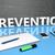prevenção · texto · mão · social · ícones - foto stock © mazirama