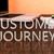 müşteri · yolculuk · metin · mavi · ok · uçan - stok fotoğraf © mazirama