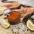 friss · pisztráng · citrom · tábla · fölött · kilátás - stock fotó © mcherevan