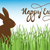 brown cute chocolate bunny in grass vector easter illustration stock photo © mcherevan