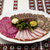 banquet menu a delicious assortment of salami smoked meat roast beef beef tongue horseradish an stock photo © mcherevan