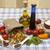 greggio · vegetariano · pasta · insalata · shot · legno - foto d'archivio © mcherevan
