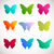 vector collection of butterflies stock photo © mcherevan