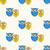 aranyos · állat · végtelen · minta · rajz · baglyok · citromsárga - stock fotó © mcherevan