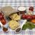 Tagliatelle Italian pasta set for the creation : cherry tomatoes, olive oil, balsamic sauce, garlic stock photo © mcherevan