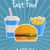 fast · food · ontwerp · stijl · zwarte · Geel · witte - stockfoto © mcherevan
