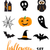 collection of halloween stickers for your design stock photo © mcherevan