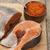 vers · noors · regenboog · forel · Rood · kaviaar - stockfoto © mcherevan