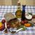 conchiglioni sicilian pasta set for the creation cherry tomatoes olive oil balsamic sauce garli stock photo © mcherevan