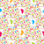 colorful butterflies and spots seamless pattern stock photo © mcherevan