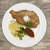 petite wiener schnitzel with boiled potatoes and ketchup served on a white porcelain plate on a woo stock photo © mcherevan