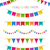 vector illustration of colorful garlands stock photo © mcherevan
