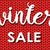 winter sale ink painted inscription on red background from knitted wool vector illustration stock photo © mcherevan