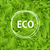 green leaves background with word eco in circle frame ecological concept vector illustration stock photo © mcherevan