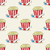 seamless vector pattern with doodle pop corn baskets and stars stock photo © mcherevan