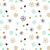 vector background with hand drawn snowflakes and spots in pastel colors stock photo © mcherevan