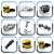 vector truck spares icons set stock photo © mechanik