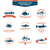 conjunto · pescaria · projeto · elementos · peixe - foto stock © mediaseller
