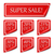 conjunto · realista · vermelho · papel · adesivos · banners - foto stock © Mediaseller