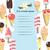 sorvete · menu · modelo · vetor · ilustrações · festa - foto stock © Mediaseller