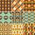 70s · patroon · gedetailleerd · illustratie · abstract · kleurrijk - stockfoto © meikis