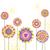 vektör · çiçek · mavi · çiçekler · doku · yaprak - stok fotoğraf © meikis