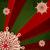 Noel · kar · tanesi · Retro · yeşil · kırmızı · çiçek - stok fotoğraf © meikis