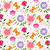 springtime colorful flower and butterfly seamless pattern stock photo © meikis