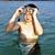 erkek · dalış · maske · beyaz · su · çocuklar - stok fotoğraf © meinzahn