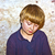 portre · sevimli · eski · tuğla · mavi - stok fotoğraf © meinzahn
