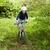 young boy with mountain bike on tour stock photo © meinzahn