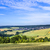 küçük · köy · alanları · mavi · gökyüzü · doğa - stok fotoğraf © meinzahn