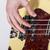 main · basse · guitare · Homme · détail · noir - photo stock © meinzahn