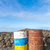 old rusty colorful barrels in volcanic landscape in timanfaya na stock photo © meinzahn