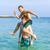 ブラザーズ · 演奏 · ピギーバック · 海 · 一緒に · 美しい - ストックフォト © meinzahn
