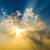 drámai · viharfelhők · nap · fény · űr · kék - stock fotó © meinzahn