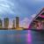 Miami · ufuk · çizgisi · akşam · karanlığı · anahtar · şehir · kentsel - stok fotoğraf © meinzahn