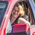 heureux · femme · voiture · verres · jeune · femme · nouvelle · voiture - photo stock © meinzahn