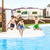 three boys jumping in the pool stock photo © meinzahn