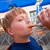 happy child drinks non alcoholic drinks stock photo © meinzahn