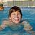 fiú · boldog · tinédzser · vakáció · úszómedence · kék - stock fotó © meinzahn