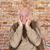 portrait of elderly man in sorrow stock photo © meinzahn