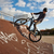 young boy with dirtbike in halfpipe stock photo © meinzahn