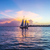 Sunset at Key West with sailing boat stock photo © meinzahn
