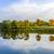 tükröződés · fák · folyó · gyönyörű · naplemente · tájkép - stock fotó © meinzahn
