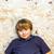 erkek · bodrum · spot · eski · tuğla · duvar · yüz - stok fotoğraf © meinzahn
